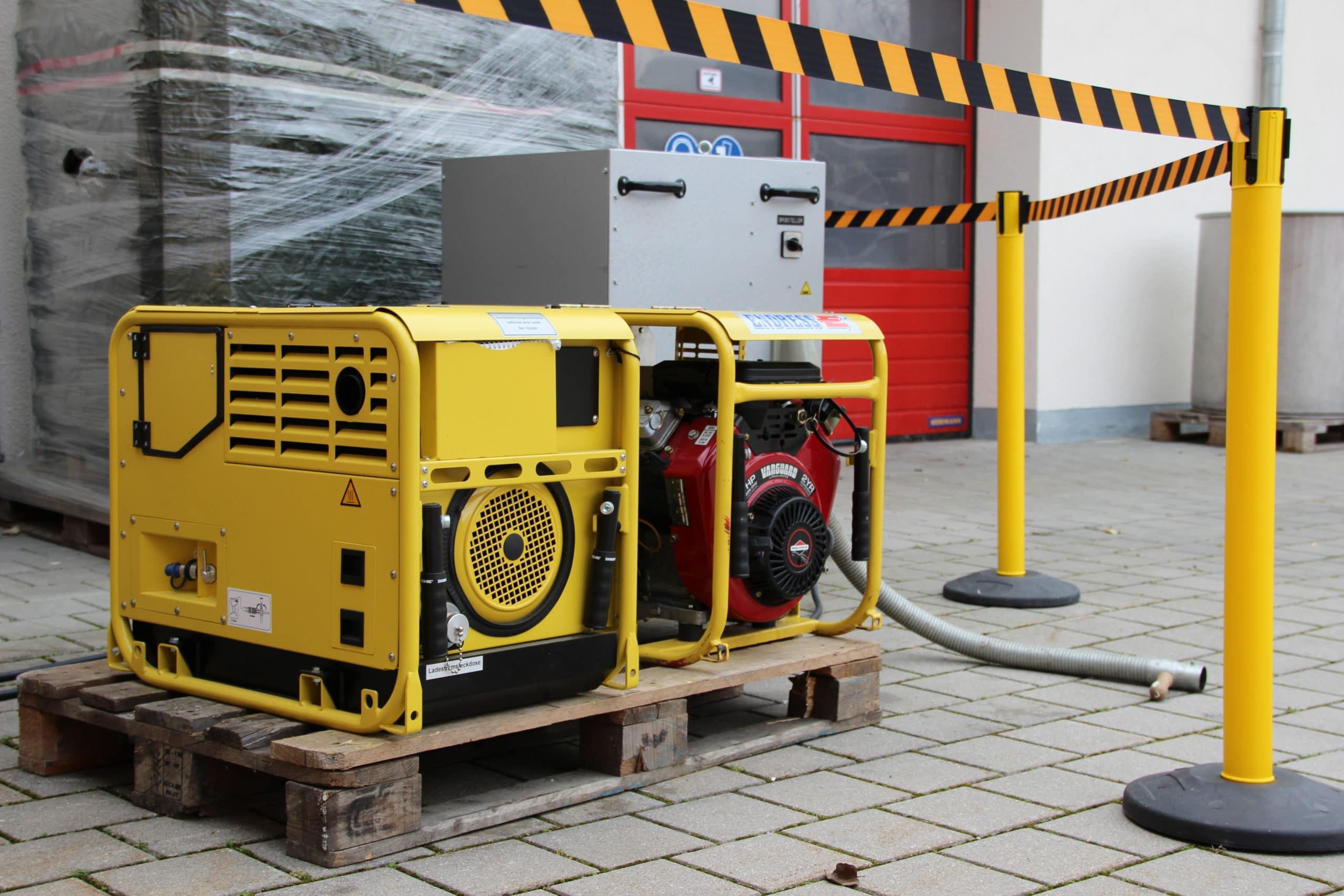 Lastprüfung Stromerzeuger mit Lastsatz 25kVA