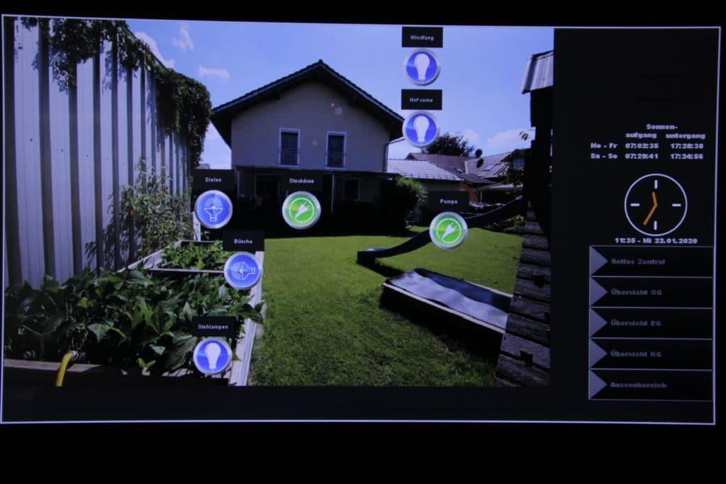 elektrische Anlage - Visualisierung KNX auf einem Bildschirm Display