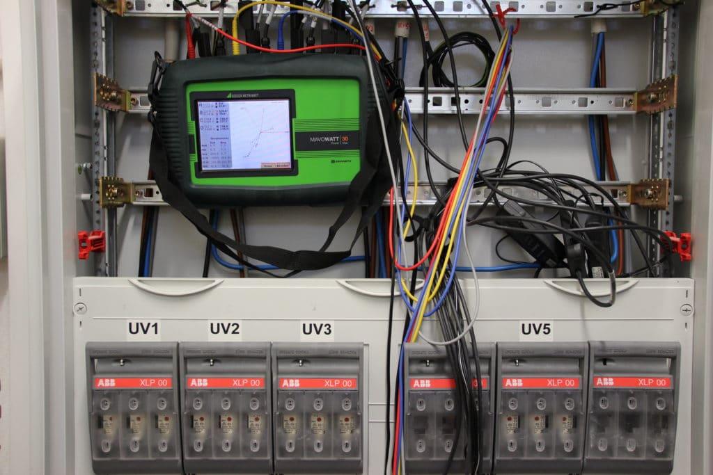 Energiemessungen, Netzanalyse, Verifizierungsmessungen von Meteringstationen in einer elektrischen Anlage